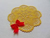 Úžitkový textil - Háčkovaná dečka Zlatistá hviezda - 11189909_