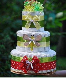 Detské doplnky - Plienková torta - 11190854_