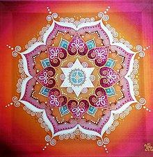 Obrazy - Mandala...Dúha ženskej nehy a rovnováhy - 11191651_