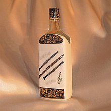 Iné - Darčeková fľaša pre hráča na klarinet - 11191420_