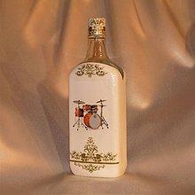 Iné - Darčeková fľaša pre hráča na bicie - 11191441_