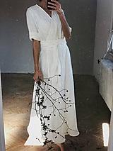 Šaty - Dámske ľanové zavinovacie šaty CHARLOTTE - dostupné v 30 farbách - 11189448_