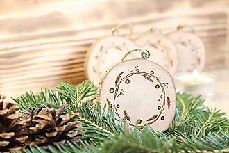 """Dekorácie - Drevená vianočná ozdoba """"Venček"""" - 11190027_"""