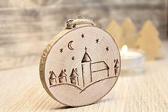 """Dekorácie - Drevená vianočná ozdoba """"Polnočná"""" - 11190043_"""