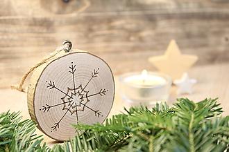 """Dekorácie - Drevená vianočná ozdoba """"Vločka I"""" - 11190070_"""