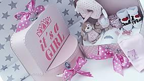 Detské doplnky - Plienková torta v kufríku Girl - 11189213_