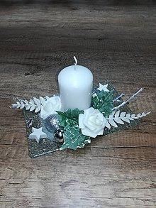 Svietidlá a sviečky - Vianočný svietnik - 11189311_