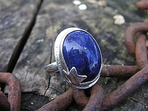Prstene - Strieborny prsteň Ag 925 Lapis Lazuli - 11189389_