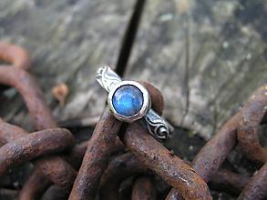 Prstene - Strieborny prsteň Ag 925 Labradorit - 11189409_