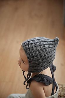 Detské čiapky - Šedý trpaslíček - 11190139_