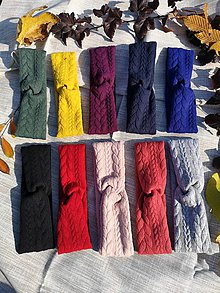 Ozdoby do vlasov - Turban čelenka (Kráľovská modrá) - 11189207_