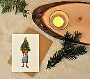 Papiernictvo - Vianočná pohľadnica - 11190224_