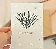 Papiernictvo - Vianočná pohľadnica - 11190249_