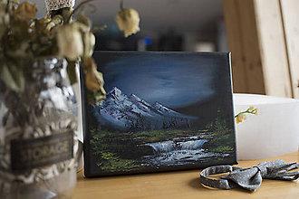 Obrazy - Mini maľba hôr 1 - 11190360_