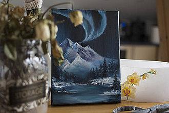 Obrazy - Mini maľba hôr 3 - 11190426_