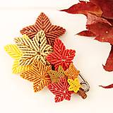 Odznaky/Brošne - Makramé jesenná brošňa - 11191908_