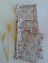 Úžitkový textil - Sada vrecúšok na chlieb a pečivo - láska... - 11190383_