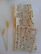 Úžitkový textil - Sada vrecúšok na chlieb a pečivo - lastovičky... - 11190560_