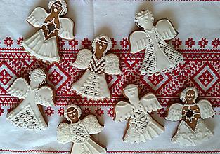 Dekorácie - Perník anjel vianočný - 11189304_