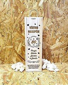 Krabičky - Narodeninová vínová drevená krabica – svetlá - 11191734_