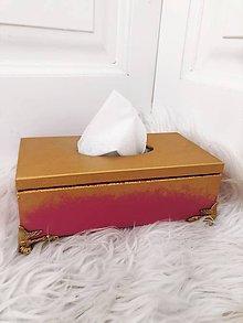 Krabičky - Drevená krabička na servítky - 11191906_