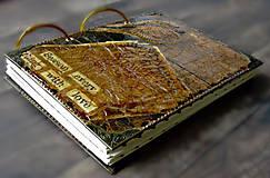 Papiernictvo - Luxusný receptár/Receptár/ Rodinný receptár/Kuchárska kniha/Zápisník receptov - 11189291_
