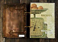 Papiernictvo - Luxusný receptár/Receptár/ Rodinný receptár/Kuchárska kniha/Zápisník receptov - 11189437_