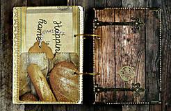 Papiernictvo - Luxusný receptár/Receptár/ Rodinný receptár/Kuchárska kniha/Zápisník receptov - 11189451_