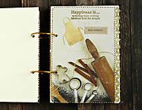 Papiernictvo - Luxusný receptár/Receptár/ Rodinný receptár/Kuchárska kniha/Zápisník receptov - 11189502_