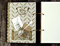 Papiernictvo - Luxusný receptár/Receptár/ Rodinný receptár/Kuchárska kniha/Zápisník receptov - 11189503_