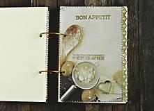 Papiernictvo - Luxusný receptár/Receptár/ Rodinný receptár/Kuchárska kniha/Zápisník receptov - 11189511_