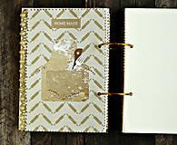 Papiernictvo - Luxusný receptár/Receptár/ Rodinný receptár/Kuchárska kniha/Zápisník receptov - 11189527_