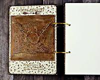 Papiernictvo - Luxusný receptár/Receptár/ Rodinný receptár/Kuchárska kniha/Zápisník receptov - 11190782_