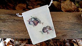 Úžitkový textil - Vianočné Ľanové vrecúško - 11192171_