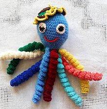 Hračky - Farebná chobotnička (Modrá) - 11191122_