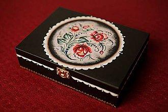 Krabičky - Drevená krabička - 11192279_