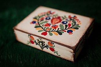 Krabičky - Drevená krabička - 11192333_