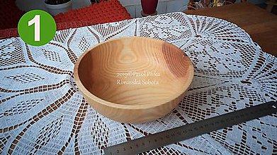 Nádoby - Miska z dreva č.1 (Jaseň) - 11190979_