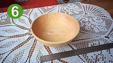 Nádoby - Miska z dreva č.6 (Jaseň) - 11191051_