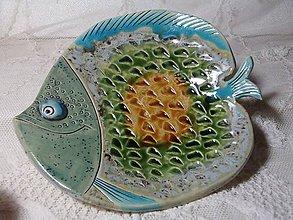 Nádoby - keramika tácka rybka... - 11192706_