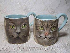 Nádoby - keramika šálky mačky... - 11192716_