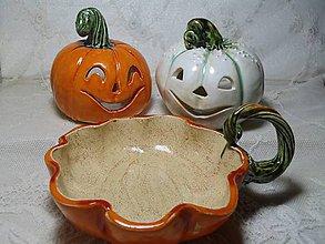Svietidlá a sviečky - keramika tekvičky... - 11192733_