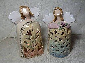 Dekorácie - keramika anjel.. - 11192753_