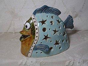 Dekorácie - keramika svietnik rybka.. - 11192760_