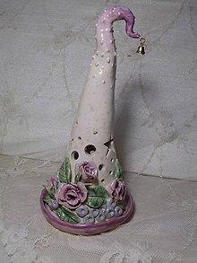 Dekorácie - keramika svietnik ihlan.. - 11192761_