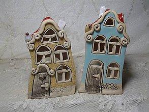 Dekorácie - keramika svietnik domček.. - 11192769_