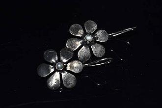 Náušnice - kytičky perlové větší - 11191136_