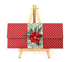 Papiernictvo - vianočná darčeková obálka - 11192551_