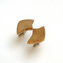 Šperky - Drevené manžetové gombíky - hrabové kúsky - 11189676_
