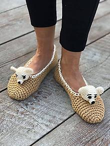 Obuv - papučovNíky so zvieratkom - 11191856_